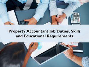 Property Accountant Job Duties Skills Educational Requirements
